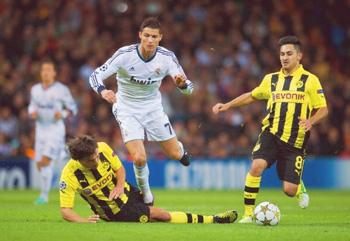 C. Ronaldo in the fourth round match of the group stage of the Champions League against Borussia Dortmund